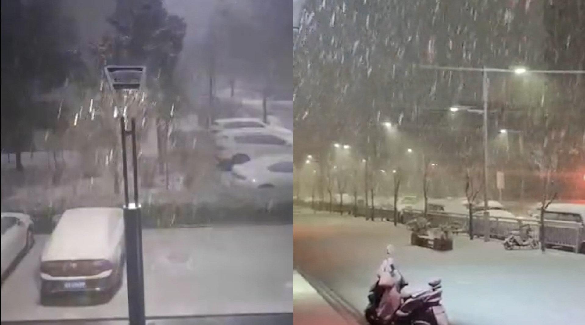 河南郑州出现打雷下雪气象,气象局简单粗暴版解释令人喷饭