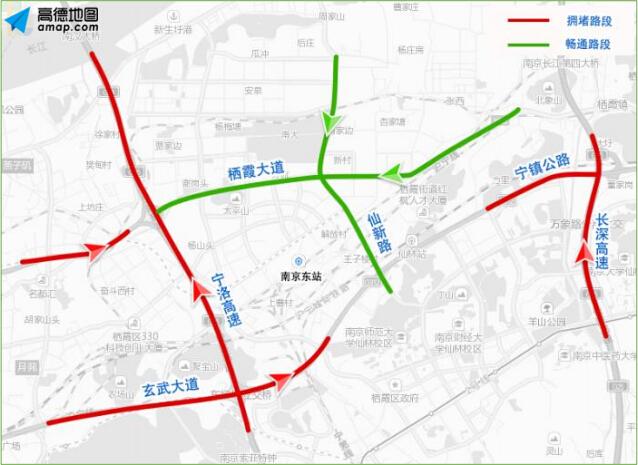 南京禄口国际机场周边宁宣高速(柘塘互通