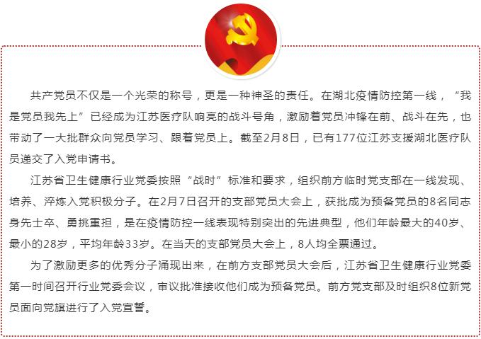 177位江苏支援湖北医疗队员递交入党申请书