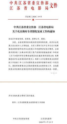 停摆两个月,江苏972家电影院迎来复业通知!
