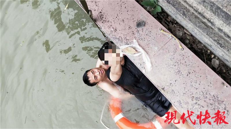 女子坠入古运河,小伙跳河救人后悄悄离去